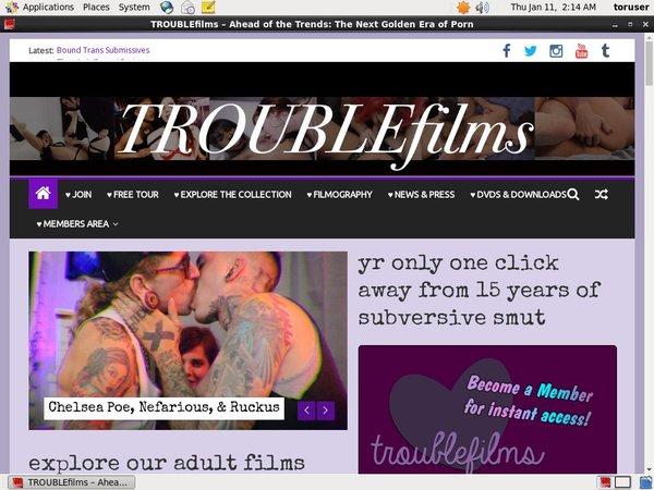 Trouble Films 注册帐号