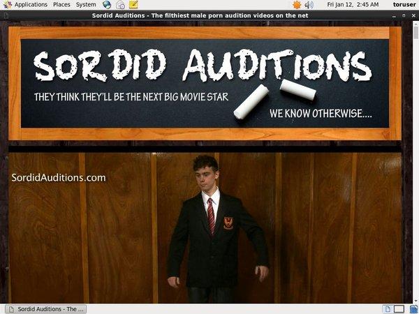 Sordid Auditions Men