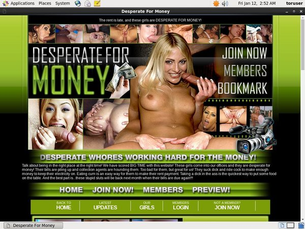 New Desperate For Money Account