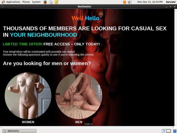 Free Working Wellhello Account