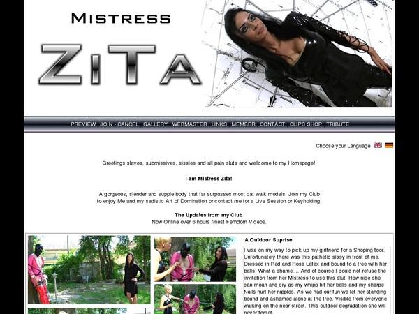 Mistress Zita Buy